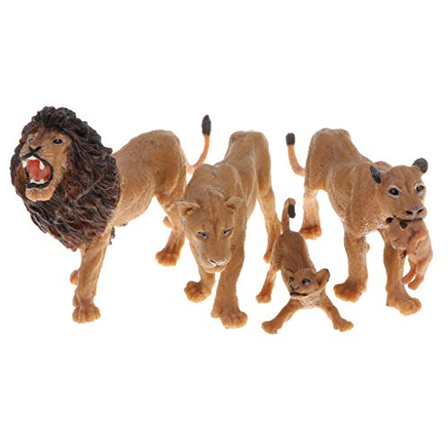 B Blesiya Miniatur Zoo/Wald Tierfiguren Tier Modell Minifigur Sammelfigur mit Löwe Design (Miniatur-wald Tiere)