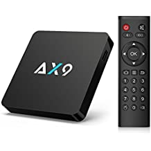 [L'ultima Android 7.1] Bqeel AX9 Android TV BOX / Smart TV BOX / 1GB DDR3 + 8GB ROM/ Quad-Core / Supporta LAN 2.4GHz WiFi / 4K HD / H.265/ SPDIF/ Micro SD(espandibile)/ Box Android (1+8G)
