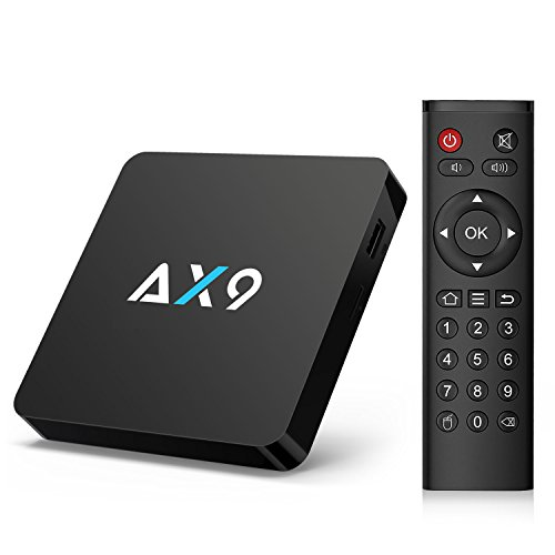 Android TV Box- TICTID AX9 TV Box Android 7.1 Quad Core 1GB RAM/8GB ROM soporta 2K * 4K 2.4GHz WiFi Smart TV Box