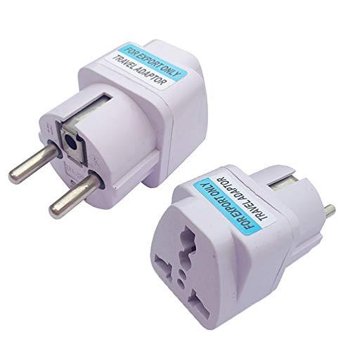 ZUZU Travel Adapter, Ultra Compact Power Plug Inputs 10A 250V Universal European Power Plug Converter Adapter