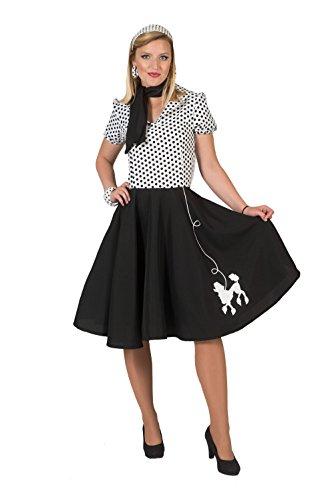 (Bristol Novelty AF052 Pudel Kleid, Schwarz/Weiß)