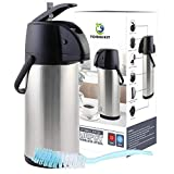 TOMAKEIT Airpot Coffee Carafe Thermos 3L(102 Oz) Insulated Stainless Steel Large Beverage Dispenser