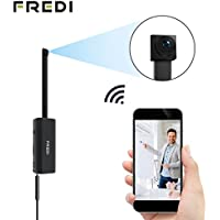 Hidden Spy Camera, FREDI Wifi Mini Camera, Wireless Security IP Camera, P2P/Motion Detection Video/Night Vision (HD 720P)