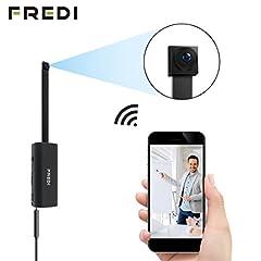 Idea Regalo - FREDI Microcamera spia HD 720P con rete Wireless micro ip camera Wi-Fi Telecamera nascosta cam modulare P2P fai da te senza fili con sensore di movimento - Videocamera DV Digital Video Recorder (V55-720p)