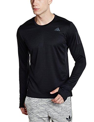 adidas Herren Response Longsleeve T-Shirt, Black, XL (Adidas Sleeve Schwarzes Long T-shirt)