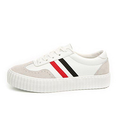 Casual lace classique coupe chaussures basses/Chaussures de femmes coréennes/Chunky chaussures de confort/ hauteur de filles augmentant des chaussures A