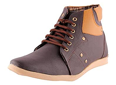 Freedom Daisy Men's Brown Synthetic Boots (6, Brown 1)