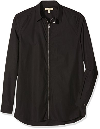 whyred-mens-marlo-zip-casual-shirt-black-x-large-manufacturer-size52