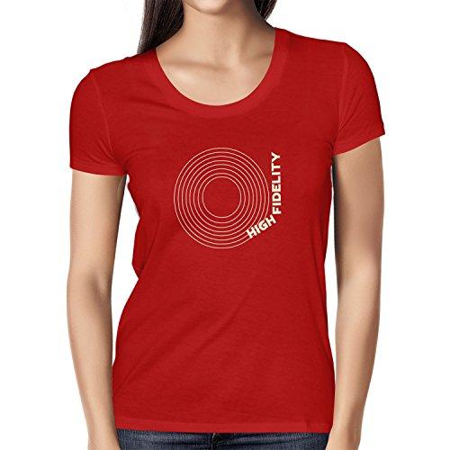 Texlab High Fidelity - Damen T-Shirt, Größe XL, Rot - Plattenspieler High-fidelity