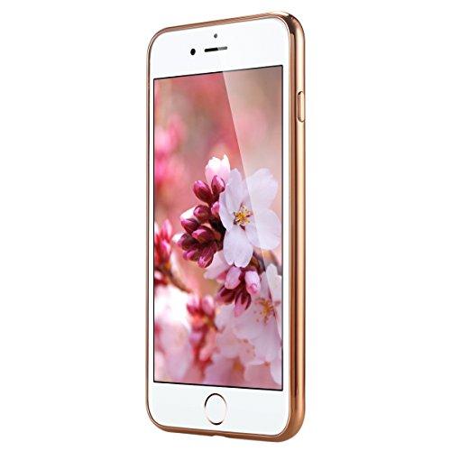 iPhone 7Plus, iPhone 7Plus Case, lontect TPU Case Crystal Clear Case, motivo fiori trasparente posteriore rigida in silicone e TPU Bumper Custodia Case Cover Custodia per Apple iPhone 7Plus fiore