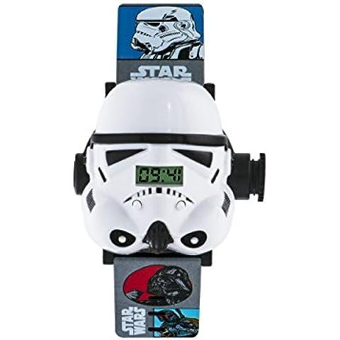 Star Wars Boy 's reloj Digital con esfera pantalla Digital y correa de plástico multicolor blanco stm3429