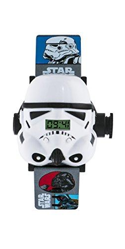 Star Wars infantil reloj con esfera blanca pantalla Digital y multicolor cinta STM3429