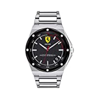 Scuderia Ferrari MEN'S BLACK DIAL STAINLESS STEEL WATCH - 830666