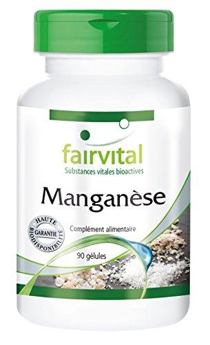 Manganèse - 90 gélules - par gélule 10mg de manganèse - substance pure