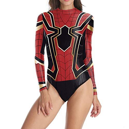 XWQXX Damen Bikini Halloween Cos Kostüm Spider-Man Kostüm Einteiliger Badeanzug,Black ()