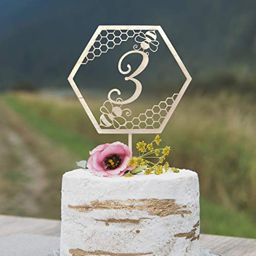 tzerdefinierte Kuchen Topper Bumble Bee Geburtstagskuchen Topper Biene Tag Kuchen Topper erste Geburtstag Biene ()