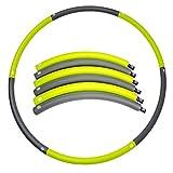 Hula Hoop, Hula Hoop Fitness Übung Beschwerte 0.9kg (2 lbs) zusammenklappbar, Hula Hoop Elastic Schaumstoff Glatt Typ 90 cm für Erwachsene und Kinder (Grün)