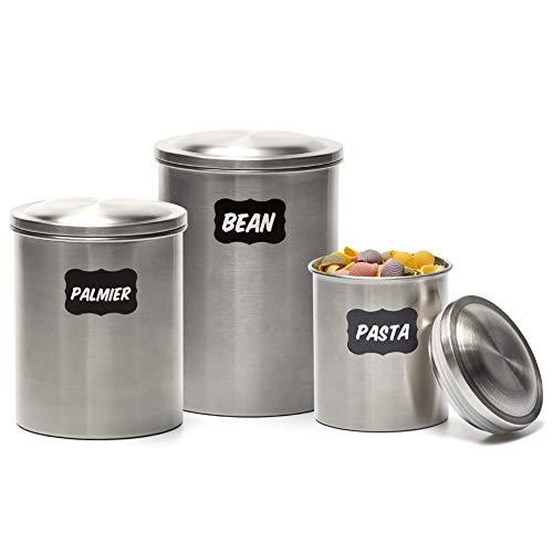 EZOWare 3er Set Edelstahl Vorratsdosen Küche Lebensmittel Lagerung Behälter mit Deckel
