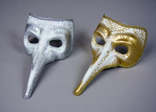 Maske Kostüm Pantalone Und - Festartikel Müller Venezianische Maske Schnabelmaske Pantalone Karneval Fasching Gold