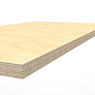 AUPROTEC Plywood board 1500 x 700 x 40 mm worktop glued hardwood multiplex ground and oil-impregnated high-grade multi layer ply wood sheets for workbench work / packing table counter top