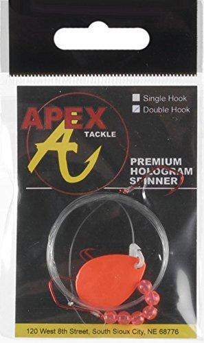 Apex Tackle Flourescent/Orange Premium Hologram Spinner Rig - Double Hook/etc - Big Rig Spinner