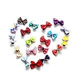 Fliyeong Premium 20 stücke Bowknot Schmetterlingsband Blume Baby Haarnadeln Mini Haarspangen Pin Für Baby Mädchen Kinder Kinder Haarschmuck