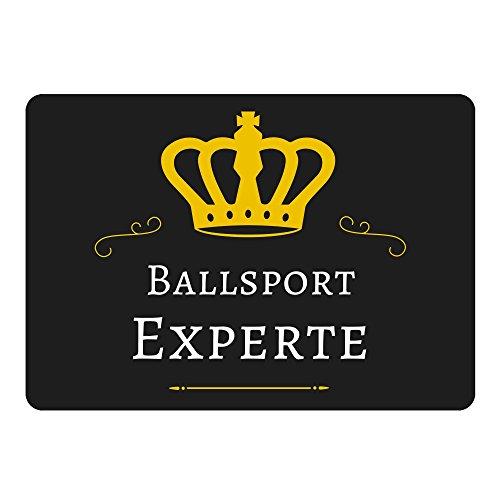 Mousepad Ballsport Experte schwarz