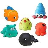 YHYZ 6 Stücke Tierisches Badespielzeug Bath Toy --- BPA-frei & 100% sicher,Baden Spielzeug Wasser Dusche, für Kinder Kleinkinder
