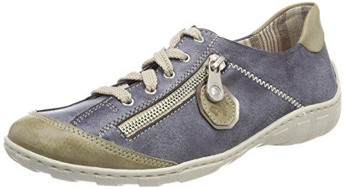 Rieker Damen M3724 Sneaker, Blau (Marble/Jeans/Altsilber), 39 EU