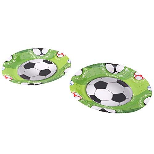 JOYfree Football-Themed Dekoration Kinder Geburtstag Baby Shower Festliche Event Geschirr Fußball Dekorationen Party Bunting Fußball Party Platten Ballons Liefert