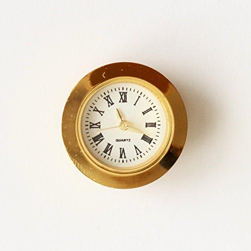 Unbekannt Einbau-Uhr Einsteckuhrwerk Einsteckwerk Einbauuhr Modellbau-Uhr Ø 27 mm Gold Nr.17 (Gold)