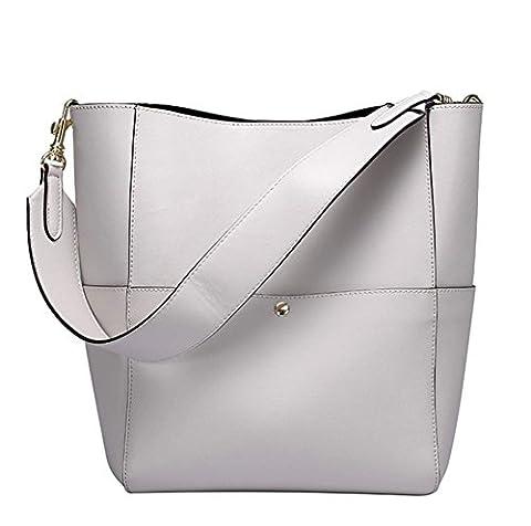 YAAGLE Echtes Leder Damen Schultertasche Eimer Taschen Handtasche oder Henkeltasche