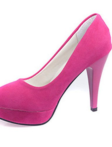 GS~LY Da donna-Tacchi-Casual-Tacchi-A stiletto-Felpato-Nero / Fucsia black-us5.5 / eu36 / uk3.5 / cn35