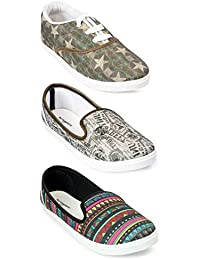 Meriggiare Women Casual Shoes Multicolor Combo Pack of 3 for Daily and Casaul wear for Women -08