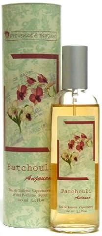 Provence et Nature: Eau de Toilette Patchouli-Vanille (Anjouan) mit pflanzlichen Duftstoffen, 100ml