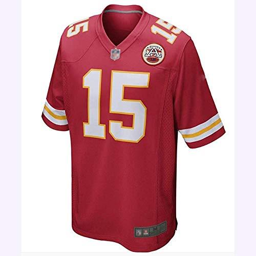 NFL Rugby Trikot Patrick Maahmes No. 15 Majestätische Kansas City Chiefs Kurzarm T-Shirt Herren Teen Fan Edition Stickerei Atmungsaktives Schweiß Sweatshirt