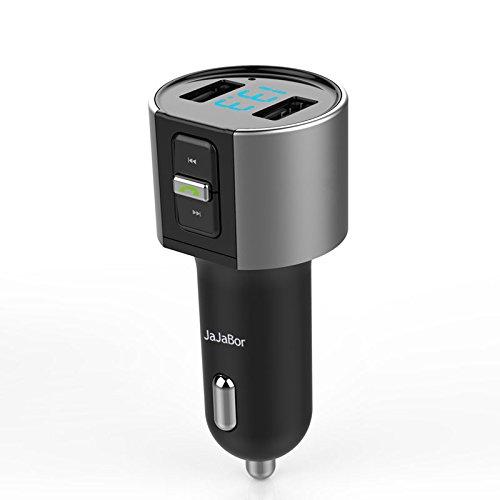 TechCode Auto MP3 Player FM Übermittler, Bluetooth Freisprecheinrichtung Bluetooth Car Kit Lautsprecher Bluetooth Radio MP3 Musik Gear FM Übermittler USB Aufladeeinheit für Telefon(C26S) -