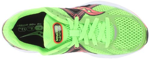 Saucony Women's Fastwitch 6 Running Shoe,Slime/Black/Coral,11 M US Slime/Black/Coral