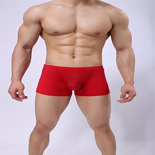 XX&GXM Super sottile di seta breve intimo uomo intimo boxer,rosso,M