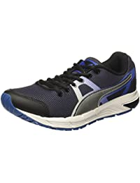Puma Men's Hermes Idp Black-Silver-Royal Running Shoes