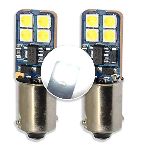 MCK Auto - Sostituzione per LED CanBus H6W Set di lampadine bianche molto chiare e senza errori compatibili con A3