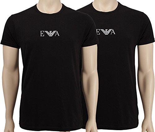 emporio-armani-2-pack-t-shirt-con-scollo-rotondo-shirts-con-logo-ea-cc715-111267-2-x-schwarz-logo-we