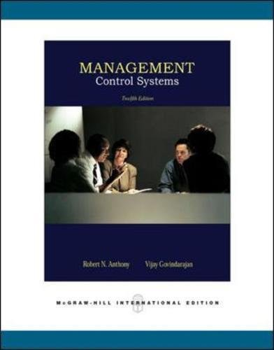 Management Control Systems por Robert N Anthony