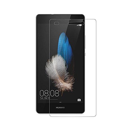 [2 Pack] Huawei P8 Lite Schutzfolie, AICEK Touch Kompatibel P8 Lite Displayschutzfolie Panzerglas Displayschutz Screen Protector 9H Hardness Gehärtetem Glas