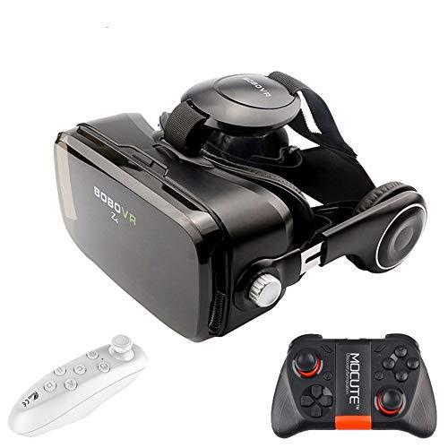 IN THE DISTANCE Schwarz Mini VR Box 2.0 3D VR Brille Virtual Reality Glas Karton VR Headset Für High-Definition-Filme Spiele Smartphone (Color : Black)