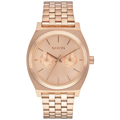 Nixon Damen-Armbanduhr Time Teller Deluxe Analog Quarz Edelstahl beschichtet A922897-00 (Nixon Watch Gold Rose)