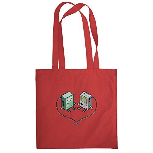Texlab–Hand Held Love–sacchetto di stoffa Rot