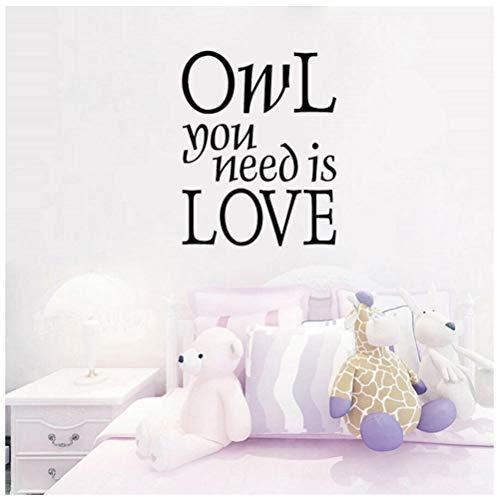 48.3CM * 61CM Eule, die Sie benötigen, ist Liebes-Wand-Aufkleber-Wörter, die Zitat-Kunst PVC-Dekor beschriften
