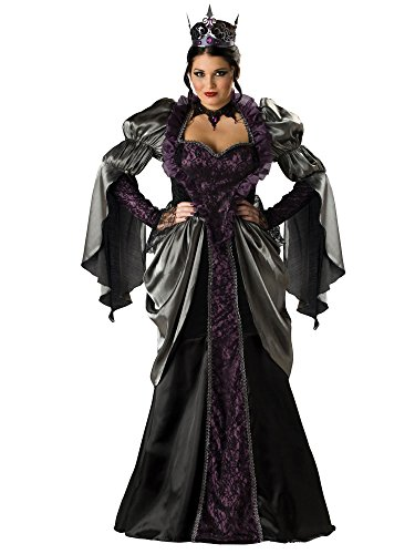Incharacter in Charakter Kostüme LLC Wicked Queen Erwachsene Lange Ärmel Gewand Schwarz, weiß, 3X (US Size) (US Size) (Incharacter Kostüme Llc)