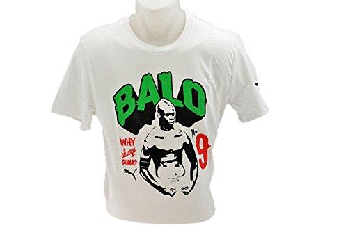 PUMA Herren T-Shirt Blank Balotelli Men Tee White